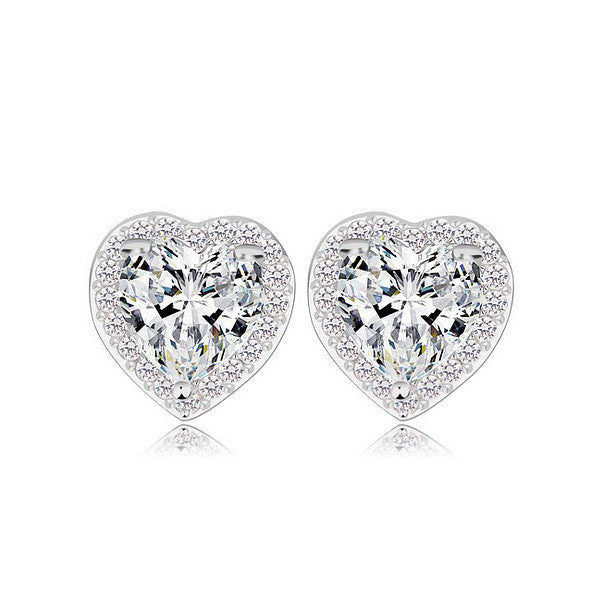 Love in Paris Stud Earrings - Crystal - VivereRosse