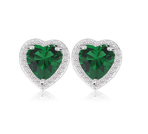 Love in Paris Stud Earrings - Green - VivereRosse
