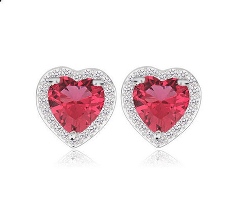 Love in Paris Stud Earrings - Red - VivereRosse