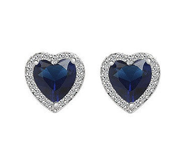 Love in Paris Stud Earrings - Blue - VivereRosse