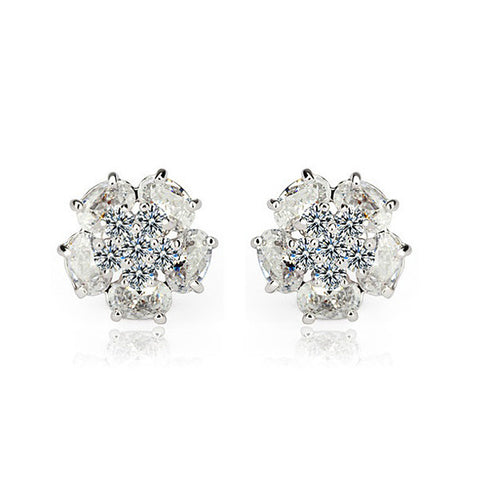 Frozen Peony Stud Earrings - VivereRosse