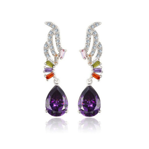 Earrings For Women For Sale - Amethyst Tear - Vivere Rosse