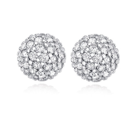 Dazzling Sphere Stud Earrings