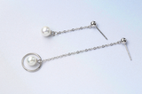 Trendy Pearl Dangle Earrings