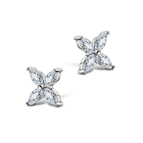 Precious Clover Stud Earrings
