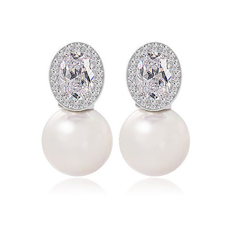 Pristine Pearl Stud Earrings