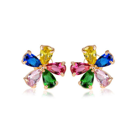 Vivid Flower Stud Earrings