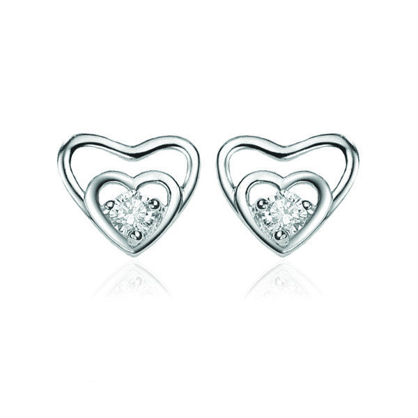 Earrings For Women (Sterling Silver) - Attract Heart - Vivere Rosse