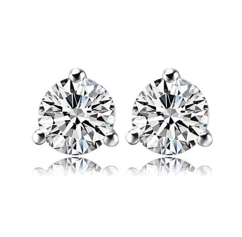 Classy Solitaire Stud Earrings