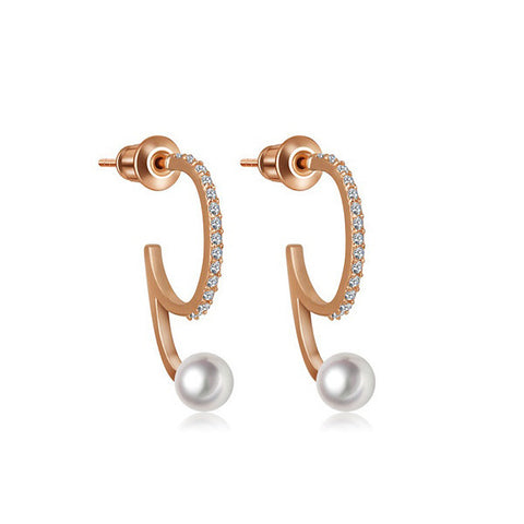 Elena Pearl Earrings - VivereRosse