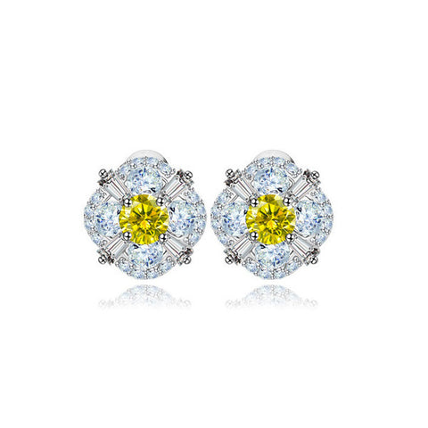 Citrine Love Stud Earrings - VivereRosse