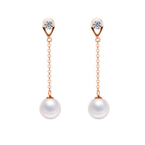 Pure Pearl Drop Earrings