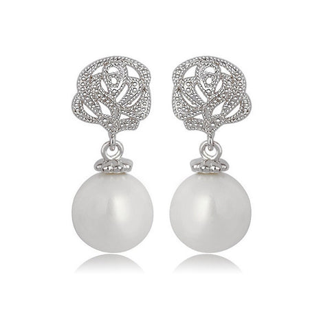 Rosemance Pearl Drop Earrings