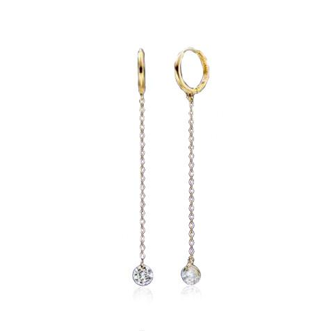 Lunar Gold Dangle Earrings