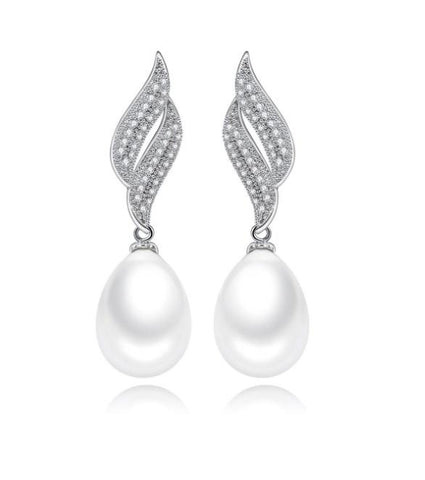 Crystina Pearl Drop Earrings