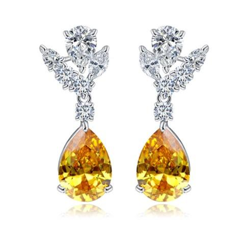Amber Love Dangle Earrings