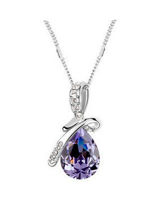 Ocean Tear Necklace - Amethyst - VivereRosse