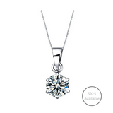Classic Six Prong Solitaire Necklace