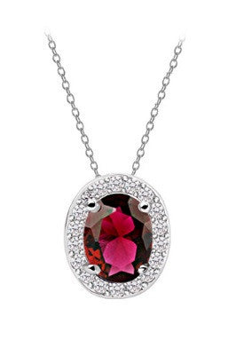 Oval Necklace - Red