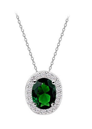 Oval Necklace - Emerald