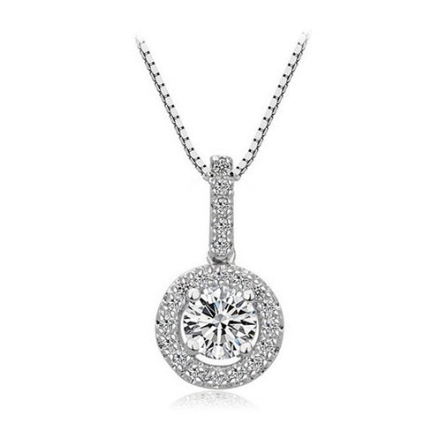 Sparkling Solitaire Necklace