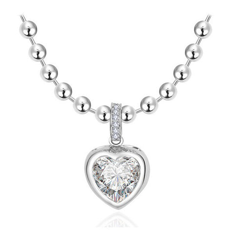 Dangle Heart Necklace - VivereRosse