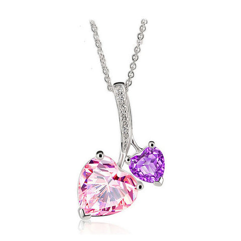 Cherry Hearts Necklace - VivereRosse
