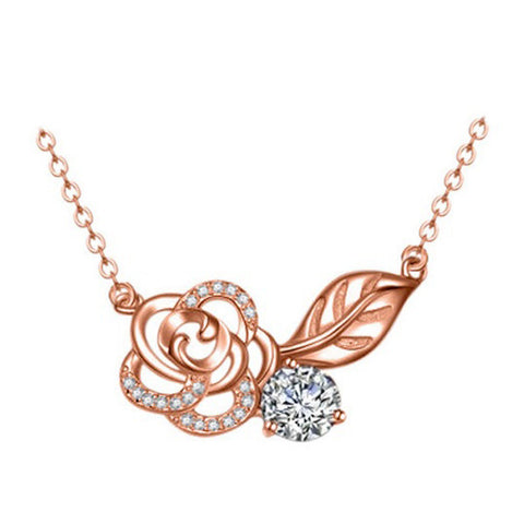 Rosey Romance Necklace - Rose Gold