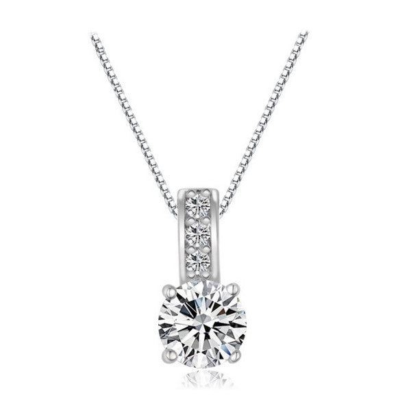 Starfall Solitaire Necklace