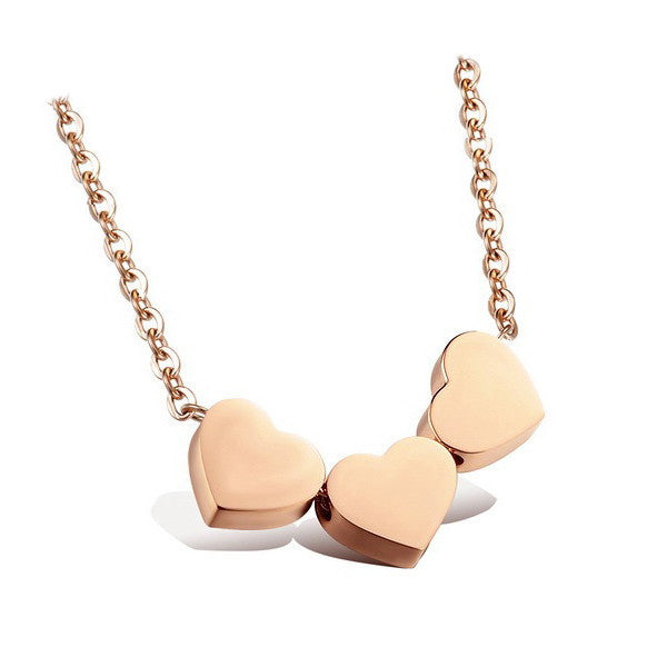 Three Hearts Necklace