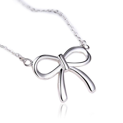 Sleek Bow Necklace