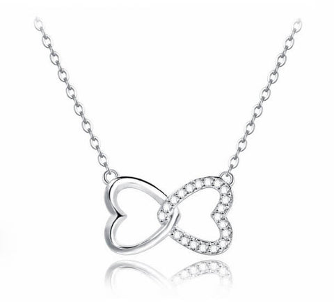 Hugs and Kisses Necklace - Silver