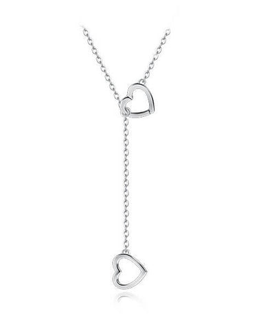 Heart Unison Necklace - Silver