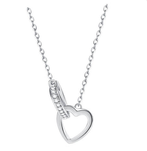 Into the Heart Necklace - Silver