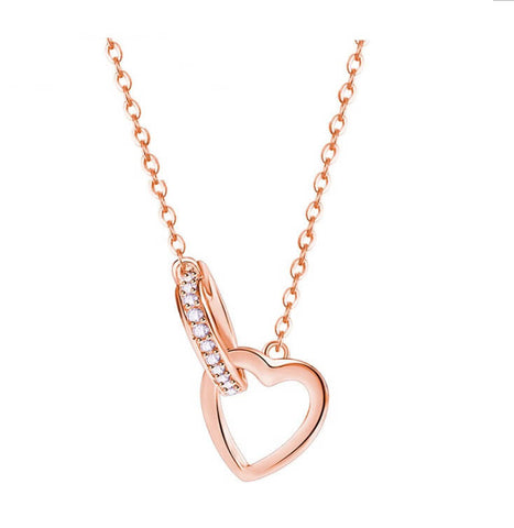 Into the Heart Necklace - Rose Gold