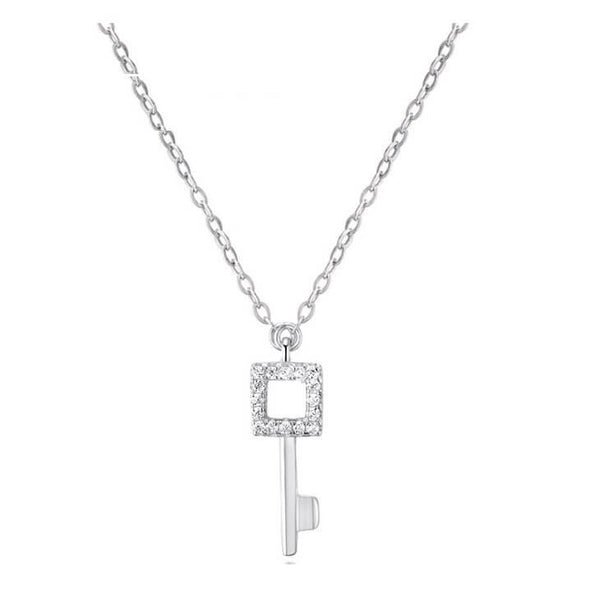 Quadrate Key Necklace - Rose Gold