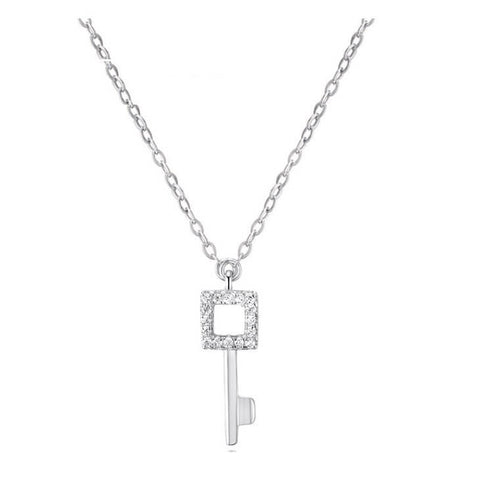 Quadrate Key Necklace - Silver