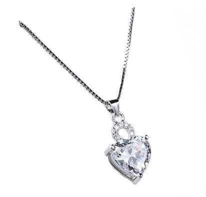 Solitaire Romance Necklace - Crystal
