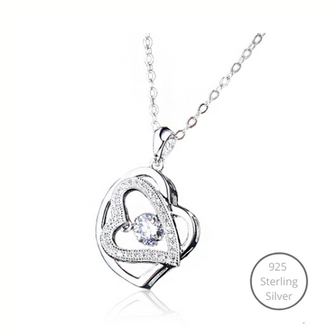 Beating Heart Dancing Stone Necklace