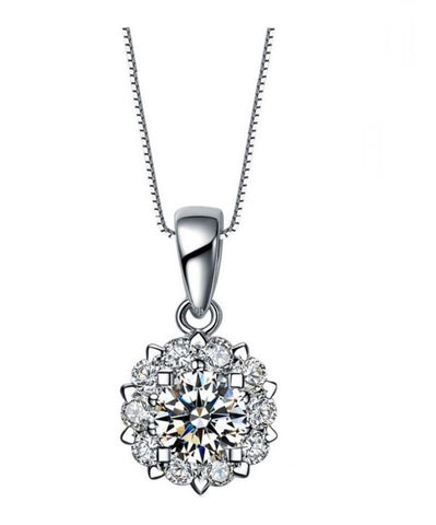 Shimmering Peony Necklace
