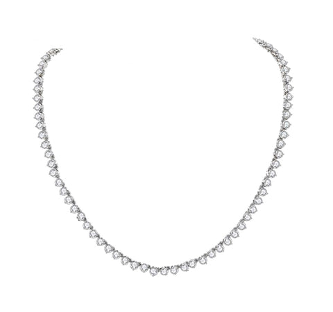 Classy Solitaire Tennis Necklace