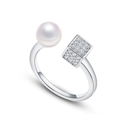 Pearl Cube Ring