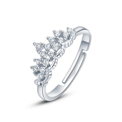Princess Tiara Ring - Silver