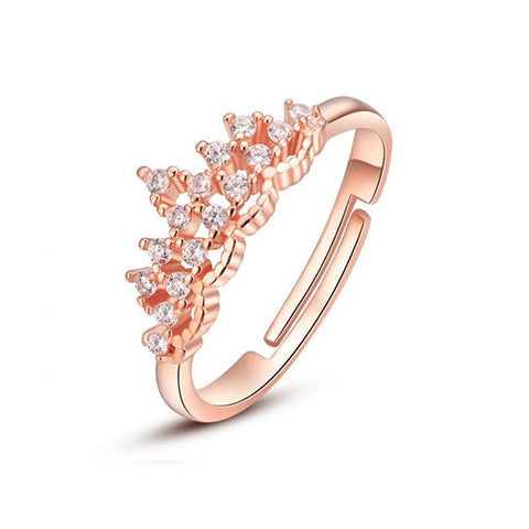 Princess Tiara Ring - Rose Gold