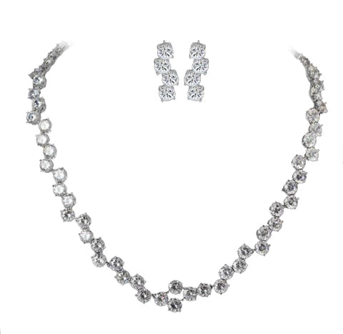 Glitzy Luxury Bridal Jewelry Set
