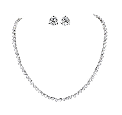 Classy Solitaire Luxury Bridal Jewelry Set