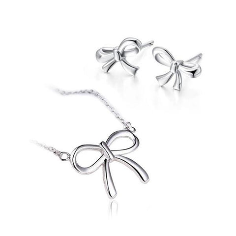 Sleek Bow Jewelry Set
