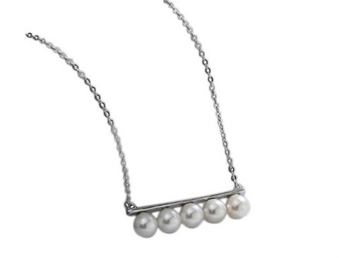 Pearly Bar Necklace