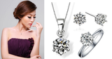 Classic Solitaire Jewelry Set (Earrings + Necklace + Ring) - VivereRosse