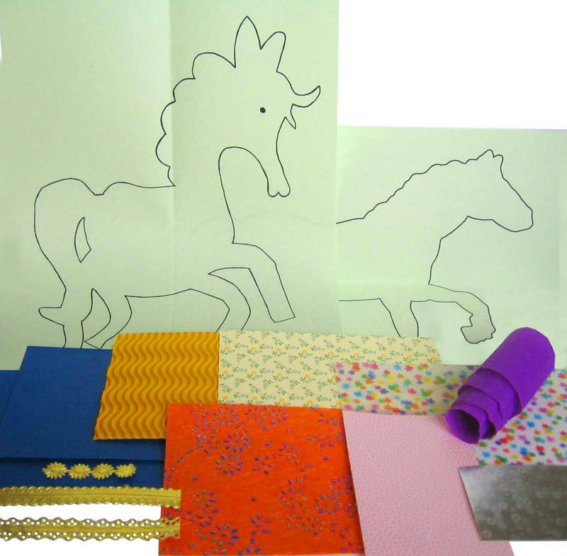 Collage Buntes Pferd (Alter 5+)
